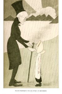 William Wordsworth nel Lake District: illustrazione di Max Beerbohm