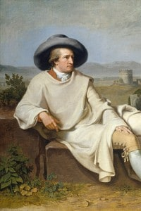 Goethe nella campagna romana: dipinto di Johann H. W. Tischbein