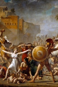 Il ratto delle Sabine: dipinto di Jacques-Louis David (1748-1825)