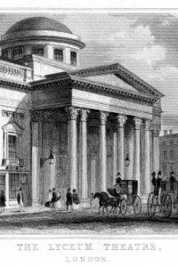 Il Lyceum Theatre (Westminster, Londra), con il suo grande portico neoclassico progettato da Samuel Beazley