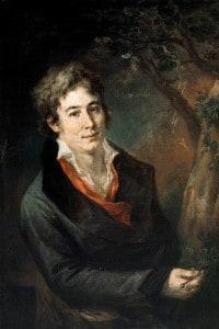 Ugo Foscolo (1778-1827). Dipinto di Andrea Appiani, pittore italiano e precursore del neoclassicismo
