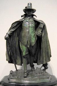 Il puritano: la scultura di Augustus Saint-Gaudens rappresenta lo stereotipo dell'uomo puritano