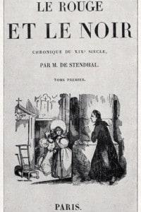 Copertina della prima edizione dell'opera Il rosso e il nero pubblicata da Stendhal nel 1831