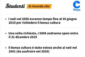 Calendario Bonus Renzi 2020.Bonus 500 Euro 18 Anni 2019 Come Richiederlo E Cosa