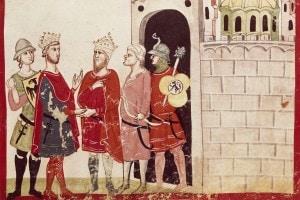 Federico II incontra il Sultano di Gerusalemme