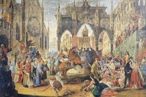 L'arrivo di Federico II a Jesi in un dipinto di Luigi Mancini