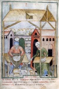Momento di vita quotidiana nel Medioevo