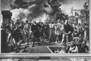 Benvenuto Cellini alla difesa di Castel Sant'Angelo: dipinto di Bernardo Celentano