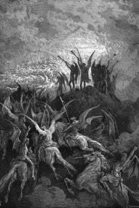 Gli Angeli ribelli, disegno di Gustave Doré
