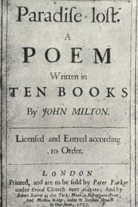 Il paradiso perduto di John Milton: copertina della prima edizione, 1667