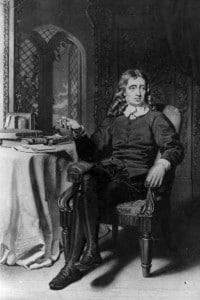 John Milton, 1642 (1608-1674): il poeta e scrittore inglese nel suo studio