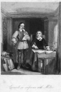 Milton e Cromwell. Il poeta inglese John Milton fu segretario di Oliver Cromwell