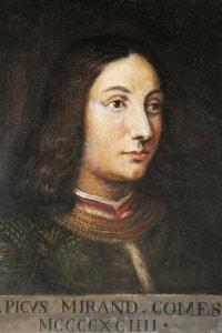 Ritratto di Pico della Mirandola (1463-1494): filosofo e umanista italiano