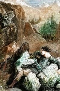 Battaglia di Roncisvalle (778) condotta da Carlo Magno, re dei franchi - La morte di Orlando (Poema epico Chanson de Roland)