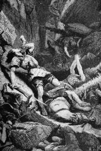 Battaglia di Roncisvalle: Roland suona il corno contro i baschi