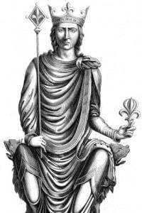 Re Filippo II di Francia, noto anche come Filippo Augusto (1165-1223)