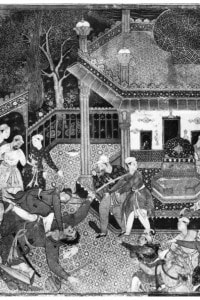 """India medievale: miniatura delle """"Avventure di Amir Hamza"""""""