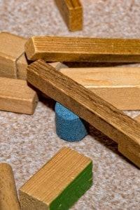 Mattoncini di legno di Frobel, gioco per bambini