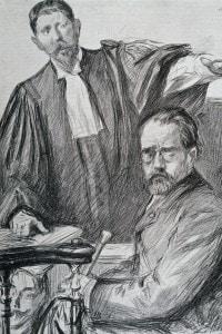 Emile Zola durante l'affare Dreyfus