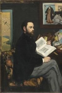 Ritratto di Emile Zola: dipinto di Edouard Manet