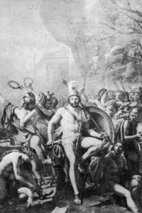 Battaglia delle Termopili, dipinto di Jacques-Louis David (Parte della seconda guerra persiana)