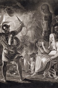 Le tre streghe e Macbeth, atto IV - scena I