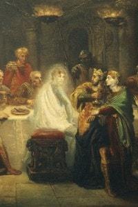 Il fantasma di Banquo, scena tratta dal Macbeth di Shakespeare. Olio su tema di Theodore Chasseriau