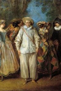 Attori della commedia dell'arte, dipinto di Nicolas Lancret