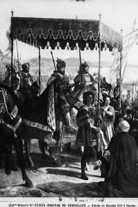 Entrata di Carlo VIII a Napoli il 12 maggio 1495. Opera di Eloi-Firmin Feron