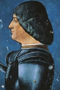 Ritratto di Ludovico Sforza (1452-1508), duca di Milano. Miniatura di Bonifacio Bembo