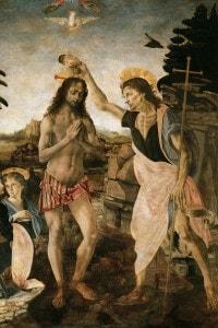 Battesimo di Cristo: dipinto di Andrea del Verrocchio e Leonardo da Vinci