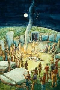 Ricostruzione di una cerimonia neolitica di Judith Dobie