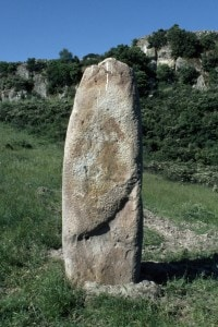 Menhir di Laconi, in Sardegna