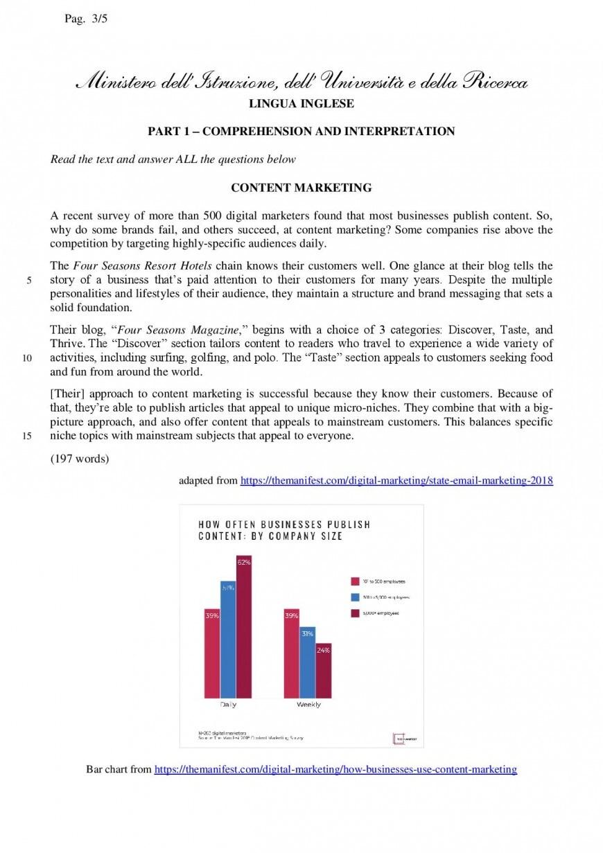 Simulazioni seconda prova 2019: AFM relazioni internazionali per il marketing