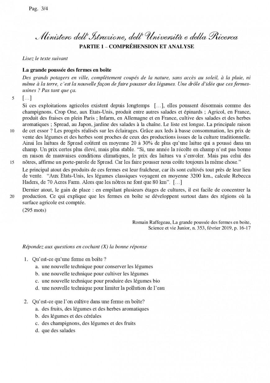 Simulazione seconda prova liceo linguistico 2019: inglese e francese
