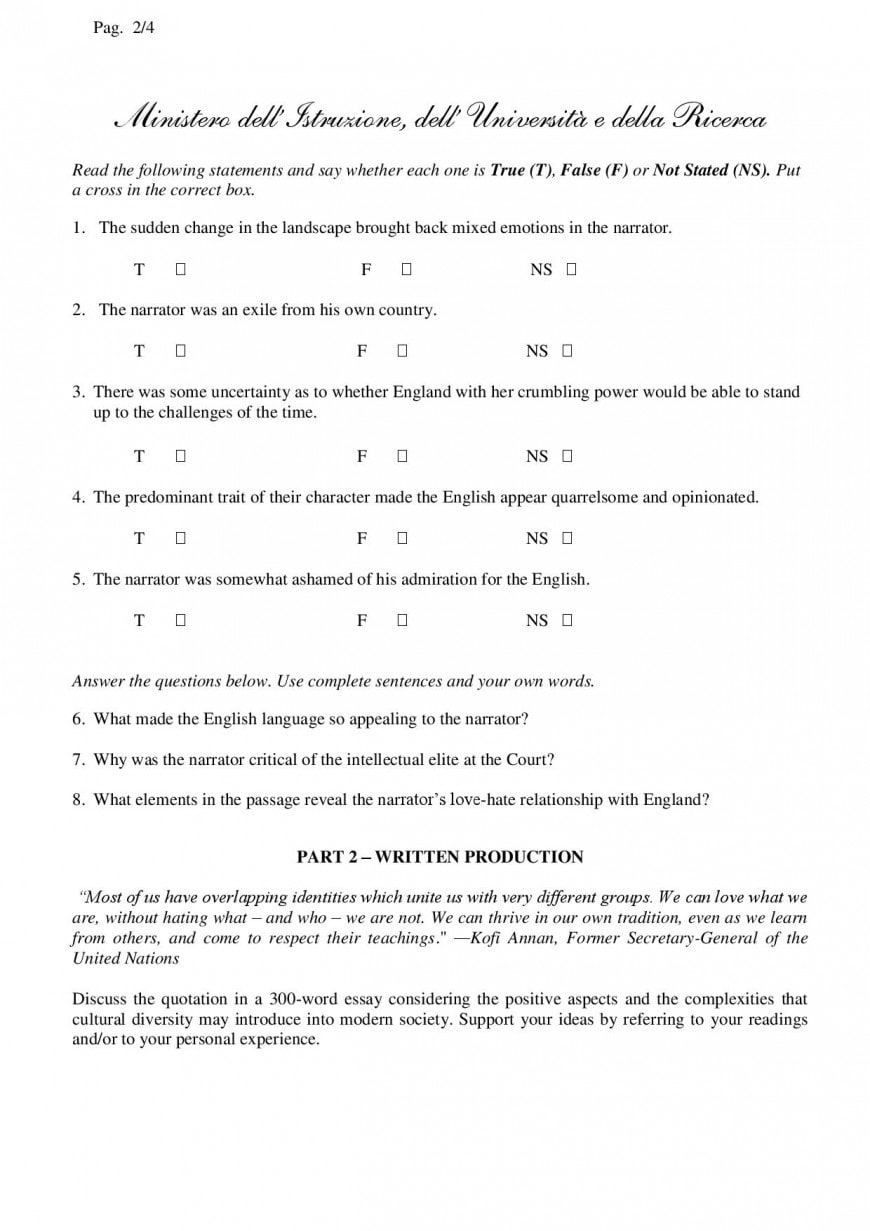 Simulazione seconda prova linguistico 2019: inglese spagnolo
