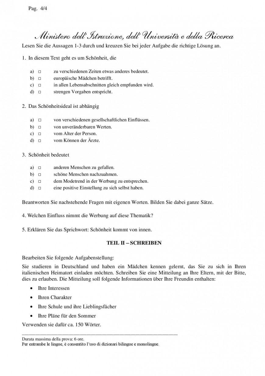 Simulazione seconda prova linguistico 2019: inglese tedesco