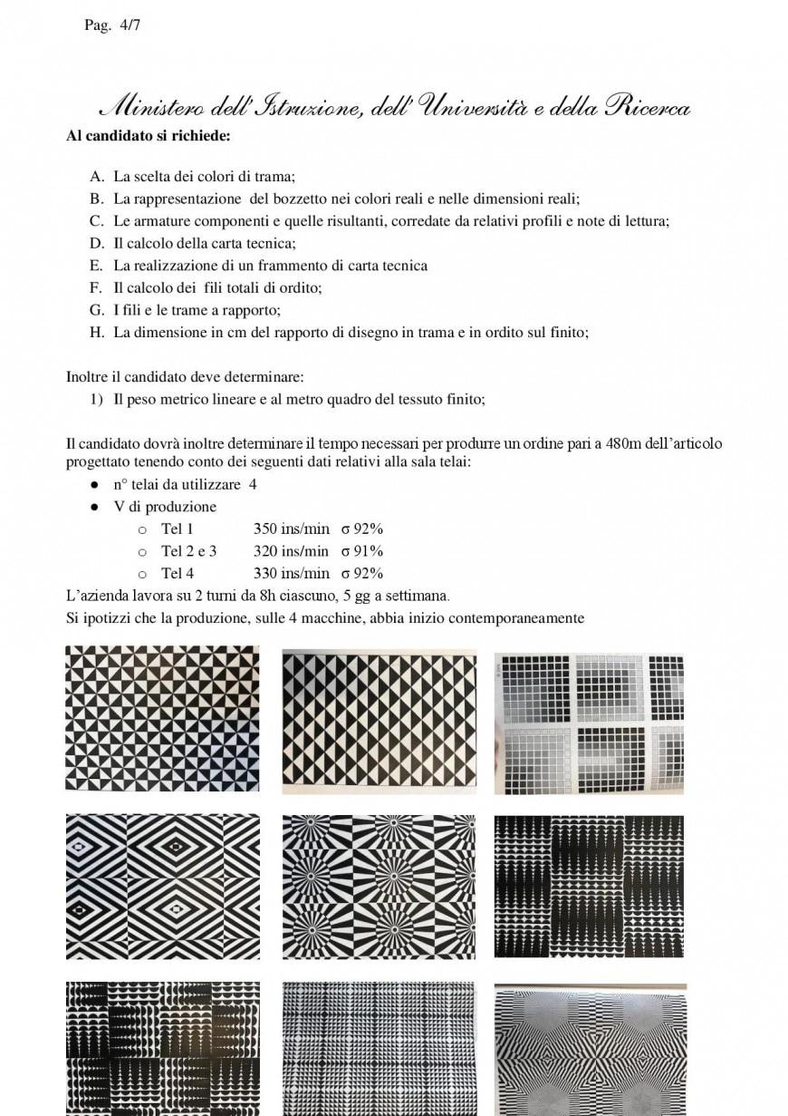 Simulazione seconda prova Istituto Tecnico Sistema Moda 2019: articolazione tessile, abbigliamento e moda