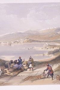 Dipinto di David Roberts: Costa vicino Sidone, Libano