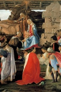 L'adorazione dei Magi di Botticelli. Rappresentazione della famiglia Medici