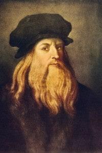 Autoritratto di Leonando da Vinci (1452-1519): pittore, scultore, scrittore, scienziato e architetto del Rinascimeno italiano
