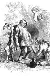 La tempesta di Shakespeare: il ritratto di Stefano, Trinculo, Calibano e Ariel