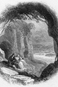 Prospero e Miranda. Illustrazione di Birket Foster