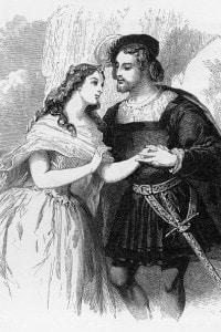 Miranda e Ferdinando. Illustrazione di Gustave Janet