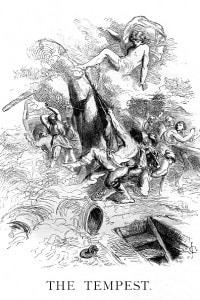 La Tempesta di Shakespeare. Illustrazione di John Gilbert