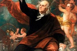 Benjamin Franklin, olio su tela di Benjamin West