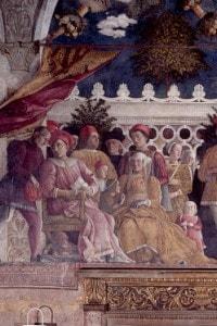 Famiglia e corte di Ludovico Gonzaga, affresco di Andrea Mantegna