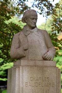Busto di Charles Baudelaire ai Giardini del Lussemburgo, Parigi