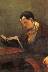 Ritratto di Charles Baudelaire di Gustave Courbet