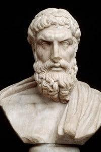 Busto di Epicuro: il fondatore dell'epicureismo